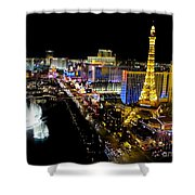City - Las Vegas Nightlife Shower Curtain