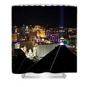 Las Vegas Night Pano Shower Curtain