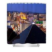 Las Vegas Skyline Shower Curtain by Brian Jannsen