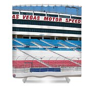 Las Vegas Speedway Grandstands Shower Curtain
