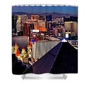 Las Vegas Sundown Shower Curtain