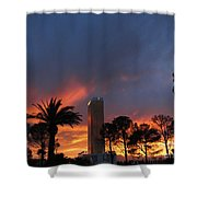 Las Vegas Sunset And Trump Tower Shower Curtain