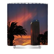 Las Vegas Sunset With Trump Tower Shower Curtain