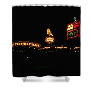 Las Vegas Vintage Signs Shower Curtain