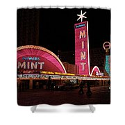 Las Vegas With Watercolor Effect Shower Curtain