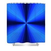 Laser Blue Light Shower Curtain