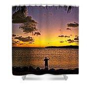 Last Cast Of The Day Shower Curtain