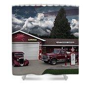 Last Chance Garage Final Shower Curtain
