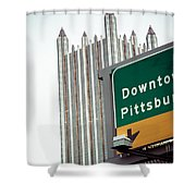 Last Exit Pittsburgh Shower Curtain