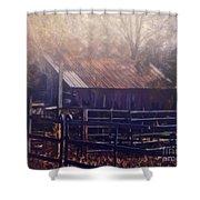Last Foggy Morning On The Farm Shower Curtain