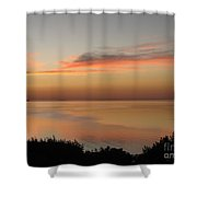 Last Golden Rays Of Light Shower Curtain