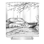 Last Hill Home Shower Curtain