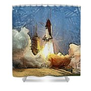 Last Launch Shower Curtain