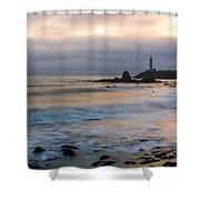 Last Light At Pigeon Point Lighthouse Shower Curtain