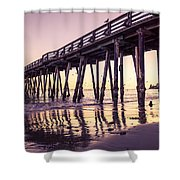 Last Light At The Capitola Wharf Shower Curtain
