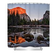 Last Light At Valley View Shower Curtain