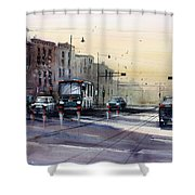Last Light - College Ave. Shower Curtain