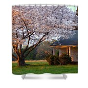 Last Light Of Day In Early Spring Shower Curtain
