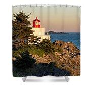 Last Light On Amphritite Lighthouse Shower Curtain
