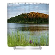 Last Light On The Lake Shower Curtain
