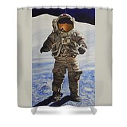 Last Man - Apollo 17 Shower Curtain
