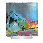 Last Man In Town Shower Curtain