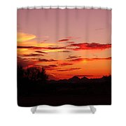 Last Night's Sunset Shower Curtain