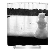Last Of The Frozen Men Shower Curtain