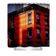 Last Rays Of The Sun - Old Buildings Of New York Shower Curtain