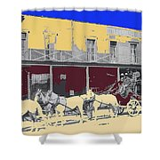 Last Stage To Tombstone Arizona Old Modoc 1903-2013 Shower Curtain