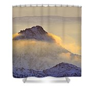 Last Sunset Light In The Clouds Shower Curtain