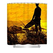 Last Surfer Standing Shower Curtain by Ian  MacDonald