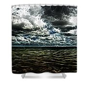 Last Winds Of Hurrican Issac  Shower Curtain