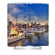 Late Afternoon At Constitution Marina - Charlestown Shower Curtain