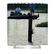 Late Afternoon At Lake Seminole Ga Bass Fishing Shower Curtain