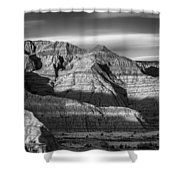 Late Afternoon In The Badlands Shower Curtain