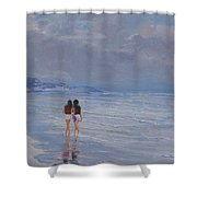 Late Afternoon In The Beach Shower Curtain