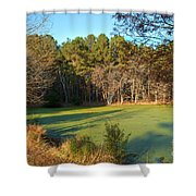 Late Afternoon Long Shadows Shower Curtain