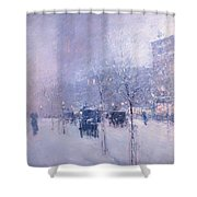 Late Afternoon - New York Winter Shower Curtain