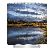 Late Afternoon On The Tuolumne River Shower Curtain