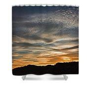 Late Afternoon Sky Shower Curtain