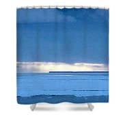 Late Afternoon Storm Antarctica Shower Curtain