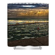 Late Afternoon Swimmer Shower Curtain
