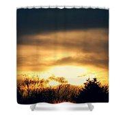 Late April Nebraska Sunset Shower Curtain
