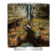 Late Autumn At The Fall Of Song Shower Curtain