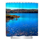 Late Autumn On Loon Lake Shower Curtain