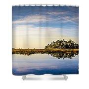Late Day Hammock Shower Curtain