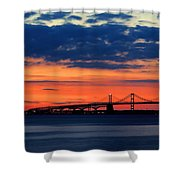 Late Evening Chesapeake Sunset Shower Curtain