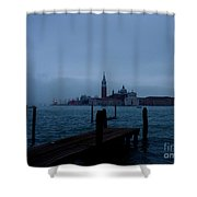 Late Evening In Venice Shower Curtain