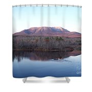 Late Fall At Abol Bridge Shower Curtain
